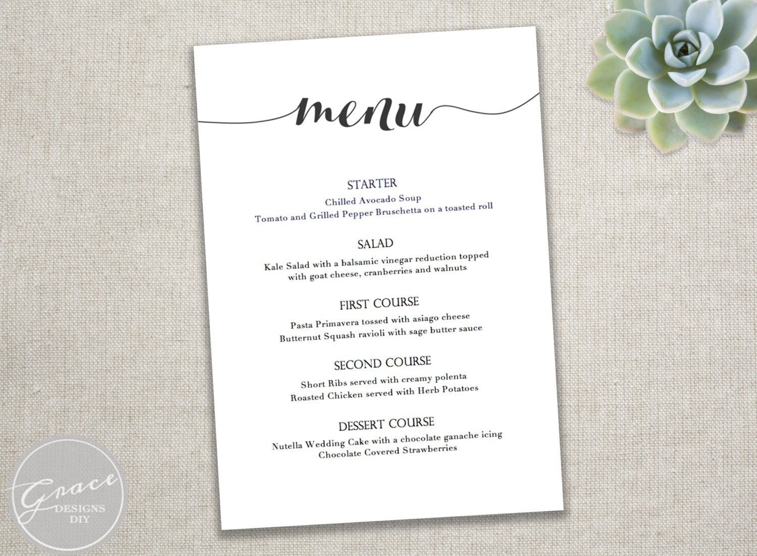 001 Dinner Party Menu Template Templates Filename Infoe Link - Free Printable Dinner Party Menu Template