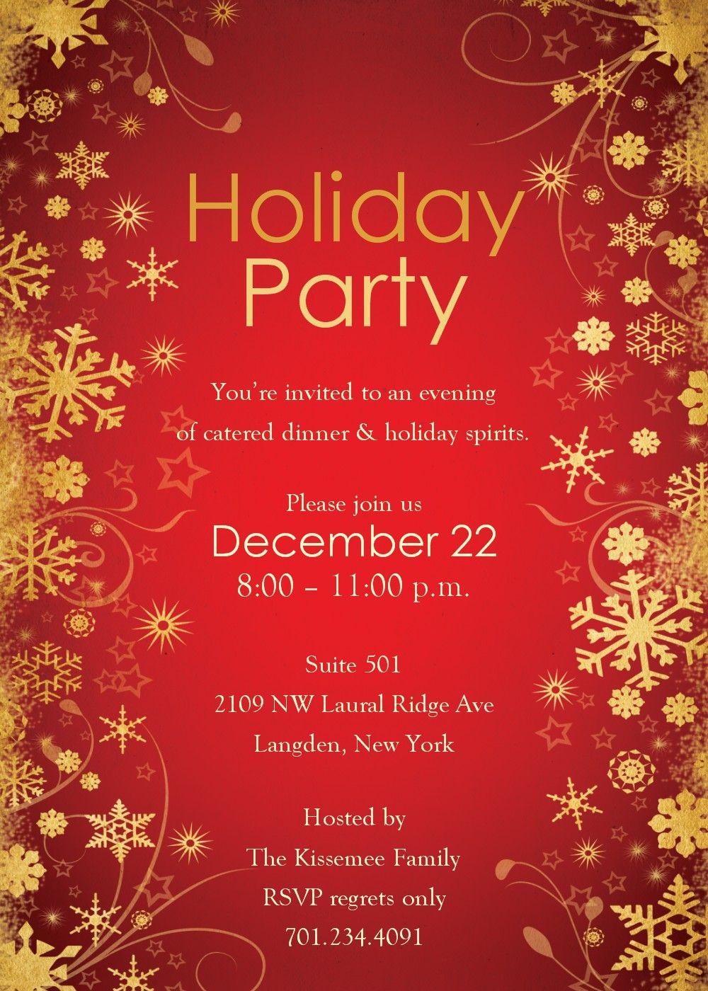 001 Template Ideas Free Holiday Invite ~ Ulyssesroom - Holiday Invitations Free Printable