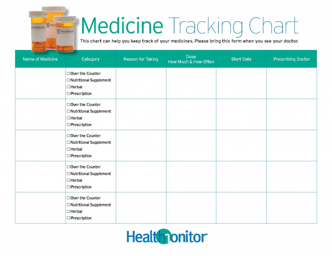 002 Daily Medication Schedule Template Medical Startup Business Plan - Free Printable Medicine Daily Chart