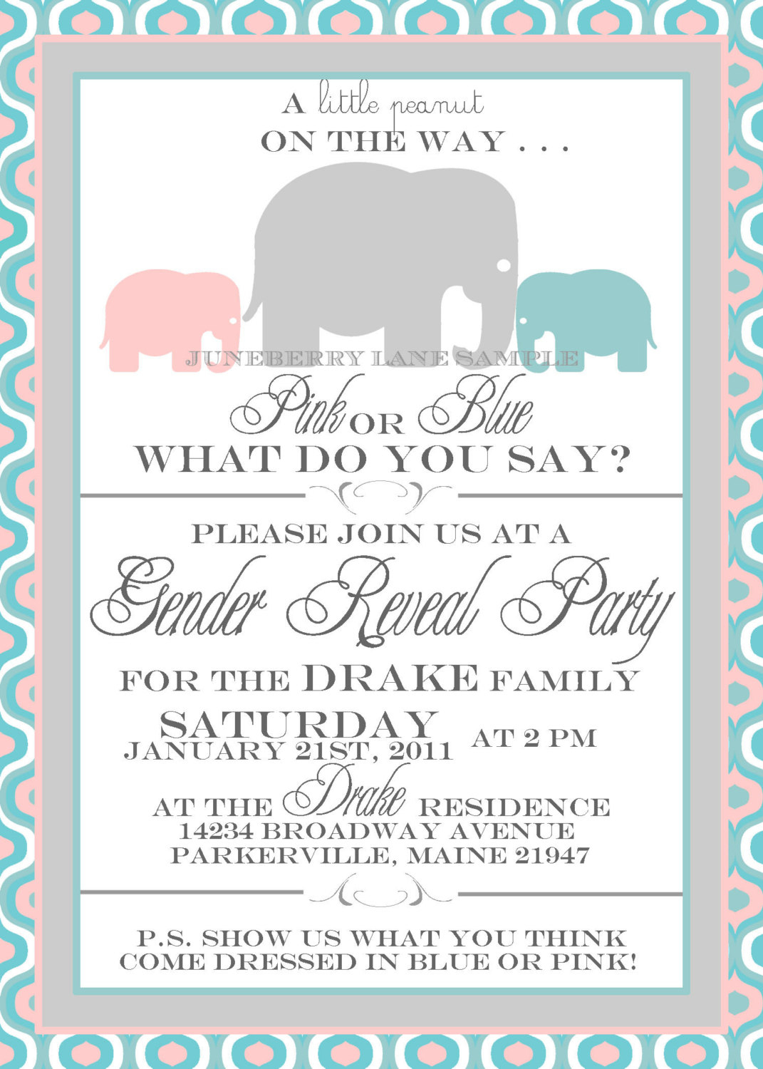 002 Gender Reveal Baby Shower Invitations And Invitation Template On - Free Printable Gender Reveal Invitations