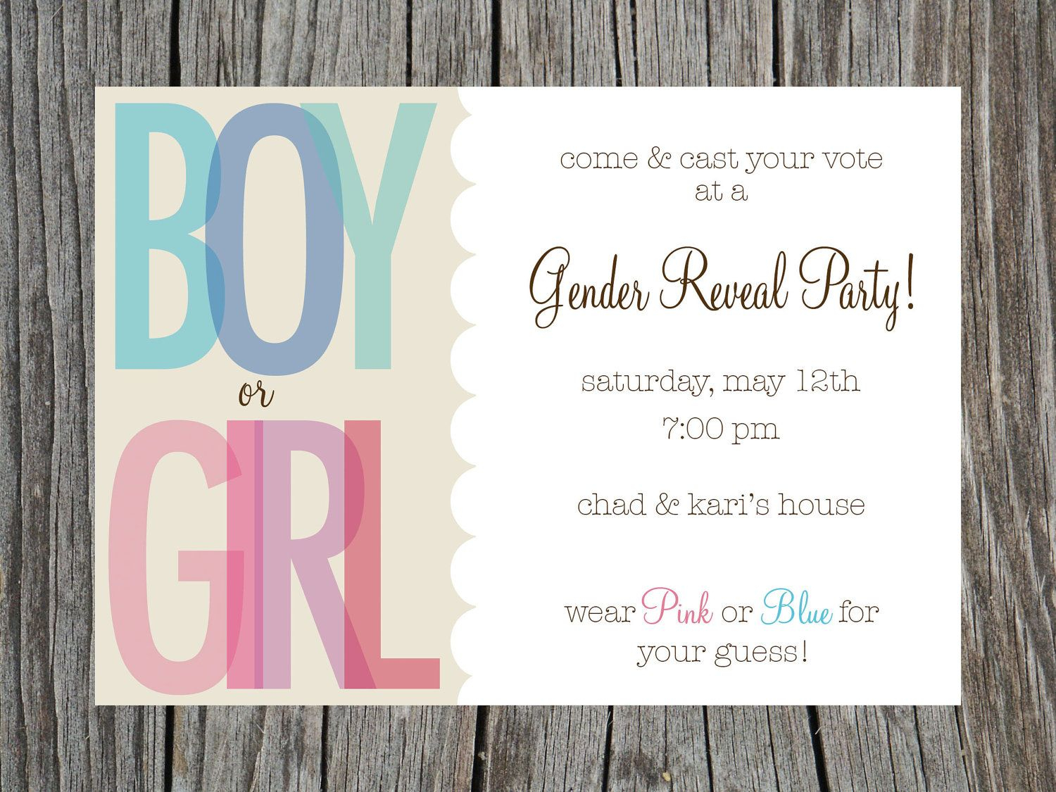 002 Gender Reveal Invitations Template Free Printable Party And The - Free Printable Gender Reveal Invitations