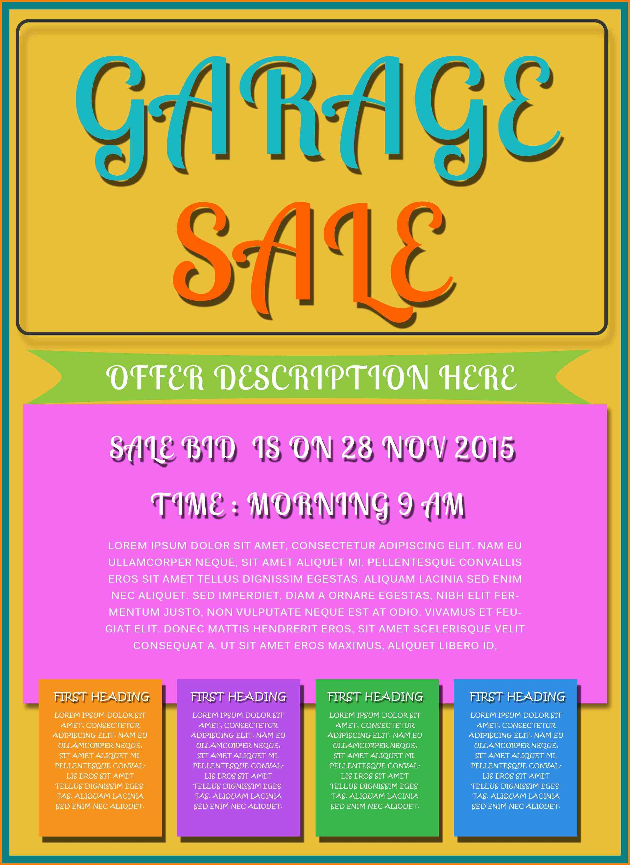 003 Garage Sale Flyer Template Free Printable Flyers Templates - Create Free Printable Flyer