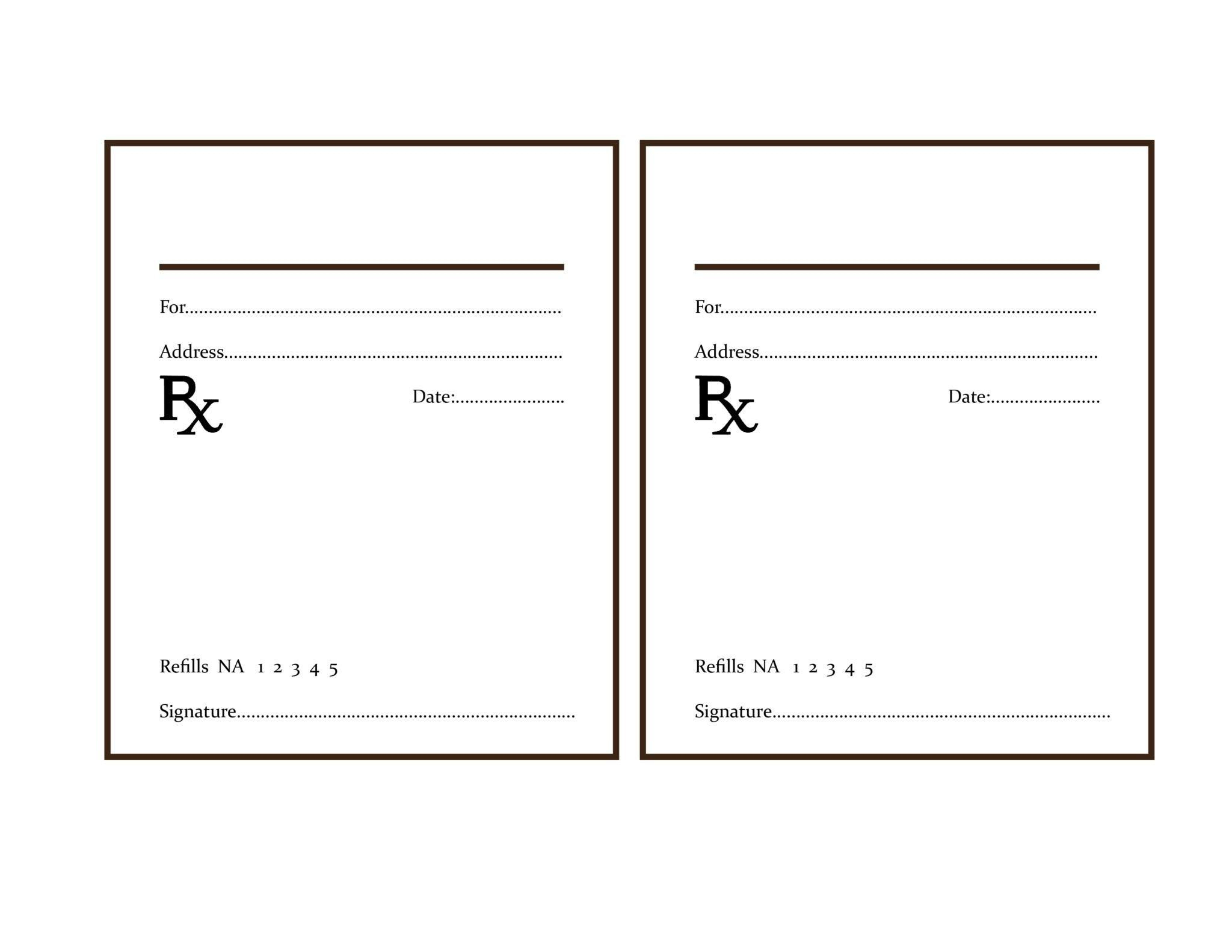 004 Template Ideas Printable Fake Prescription Labels Best Sample Of - Free Printable Prescription Pad