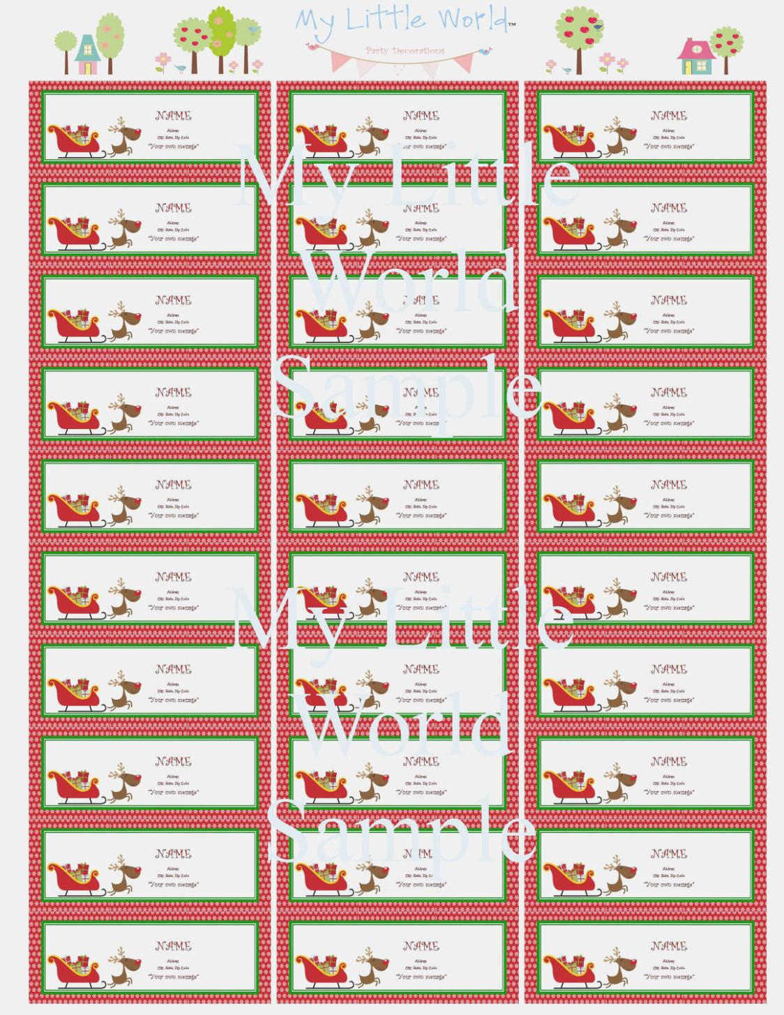005 Template Ideas Free Printable Christmas Return Address Label - Free Printable Christmas Return Address Label Template