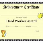 006 Certificate Of Achievement Word Template Ideas Doc General Free   Free Customizable Printable Certificates Of Achievement