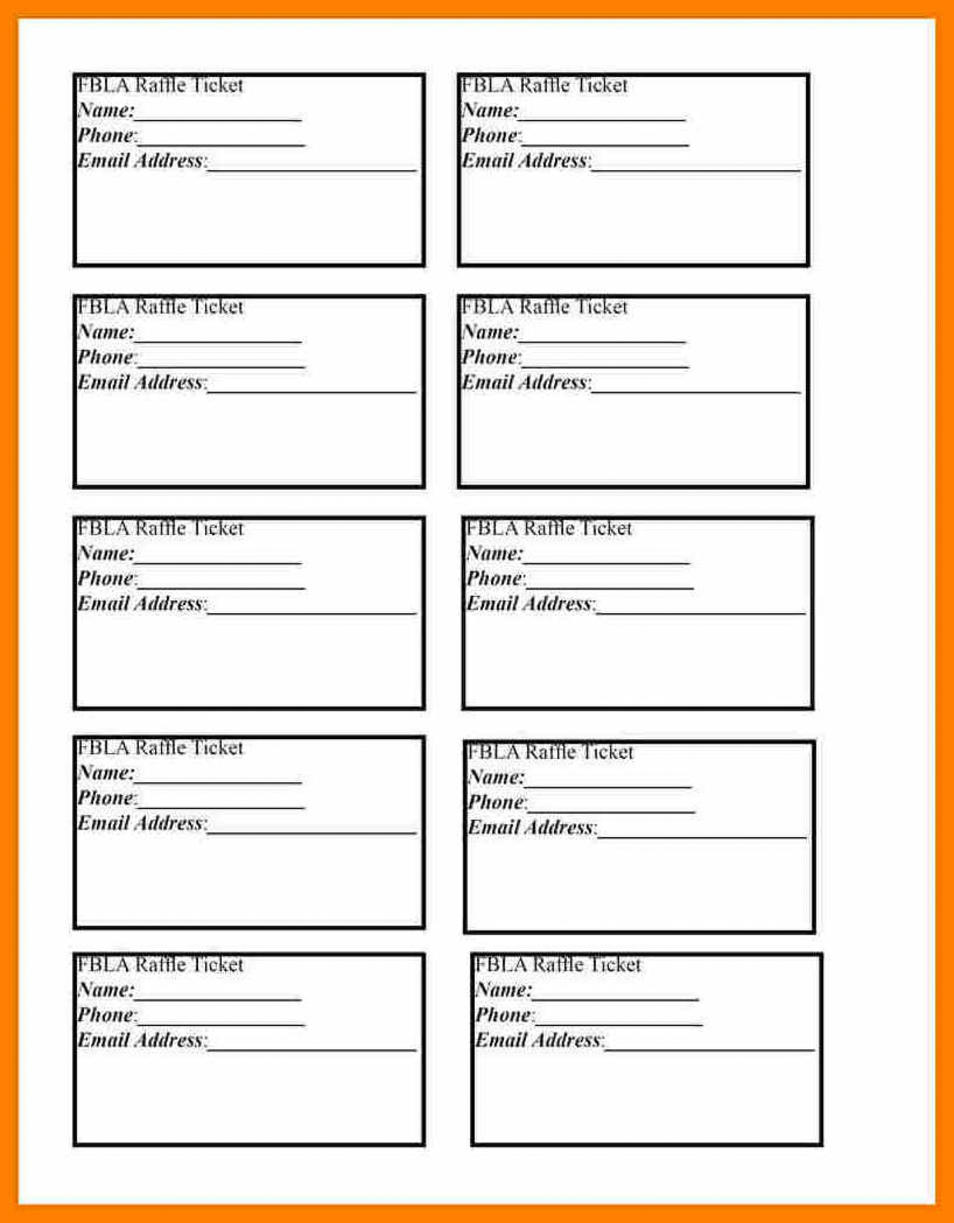 006 Free Printable Raffle Ticket Template Templates Rare Excel - Free Printable Raffle Ticket Template