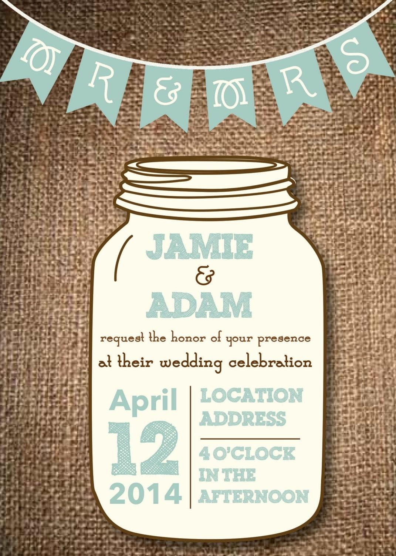 006 Mason Jar Invitation Template Ideas Free Templates New Stunning - Free Mason Jar Wedding Invitation Printable Templates