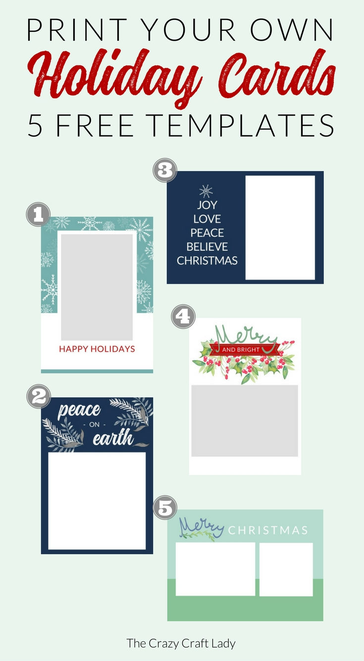 006 Template Ideas Free Printable Holiday Photo Card ~ Ulyssesroom - Free Printable Holiday Cards