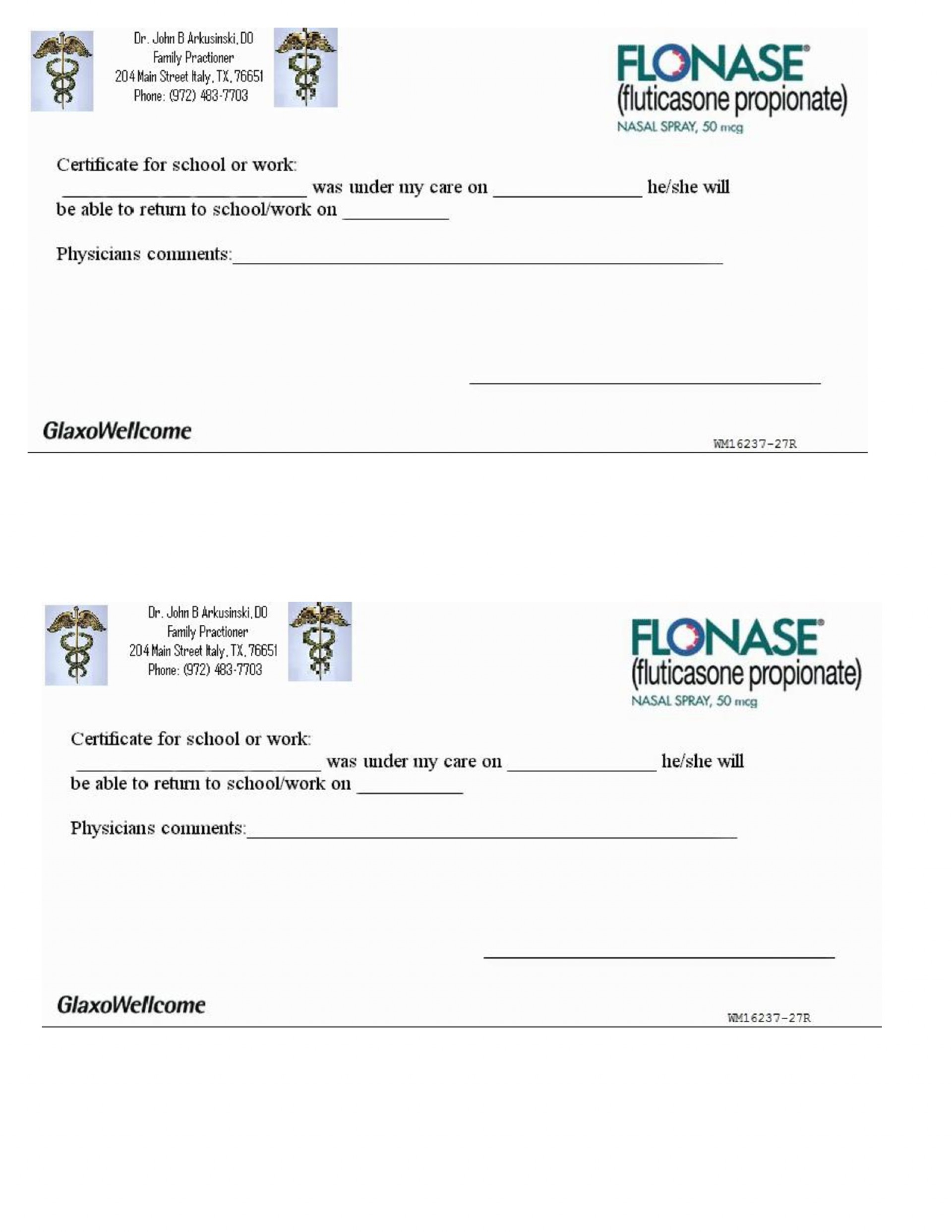 007 Free Printable Fake Doctors Note Template ~ Ulyssesroom - Doctor Notes For Free Printable