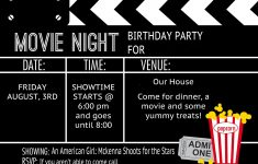 Free Printable Movie Themed Invitations