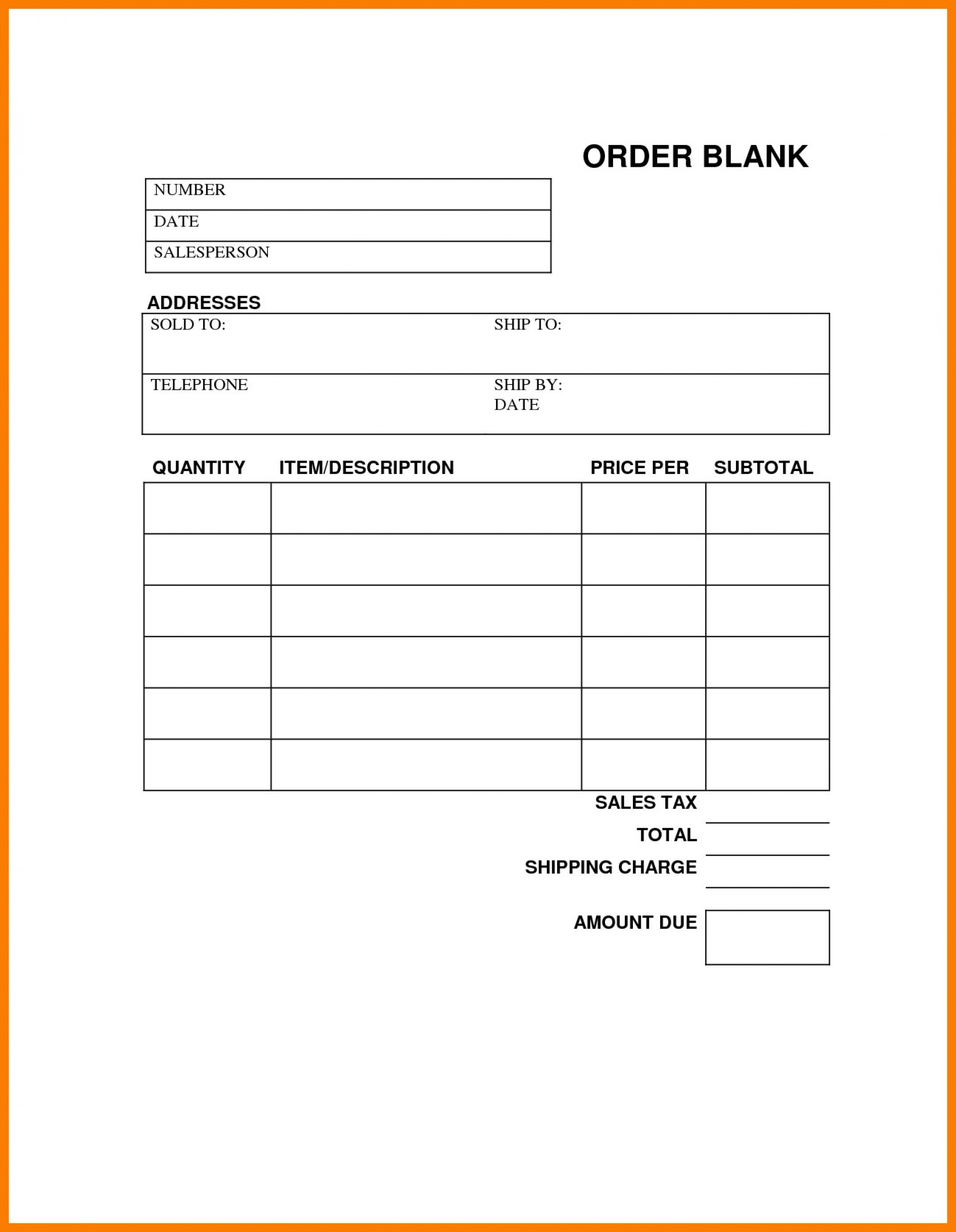 008 Template Ideas Free Printable Work Order Form ~ Ulyssesroom - Free Printable Work Order Template
