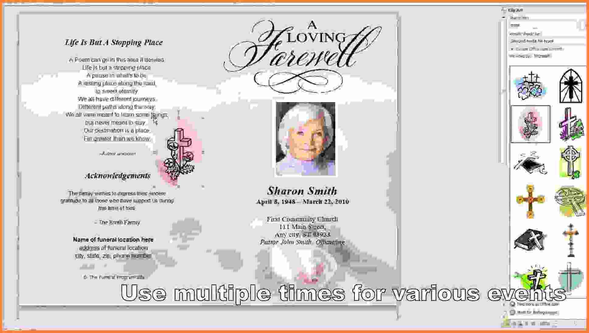 009 Free Printable Funeral Program Template Memorialard For - Free Printable Funeral Program Template