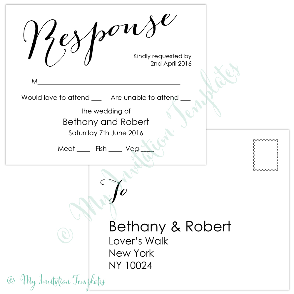 009 Template Ideas Free Printable Postcard Sample Bombshell Rsvp - Free Printable Rsvp