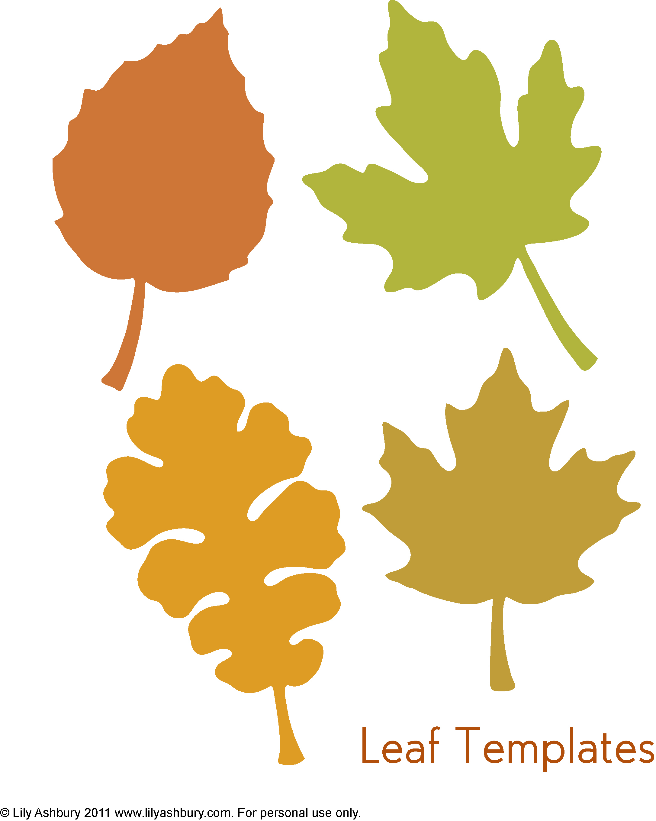 010 Quality Leaf Cut Out Templates Printable Pictures Of Leaves Free - Free Printable Leaves