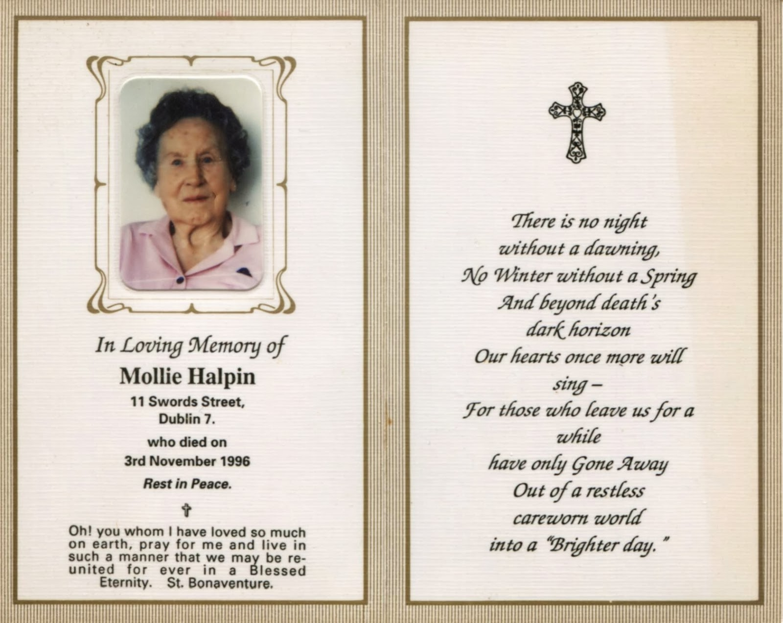 011 Free Printable Funeral Prayer Card Template Memorial Cards Of On - Free Printable Memorial Card Template
