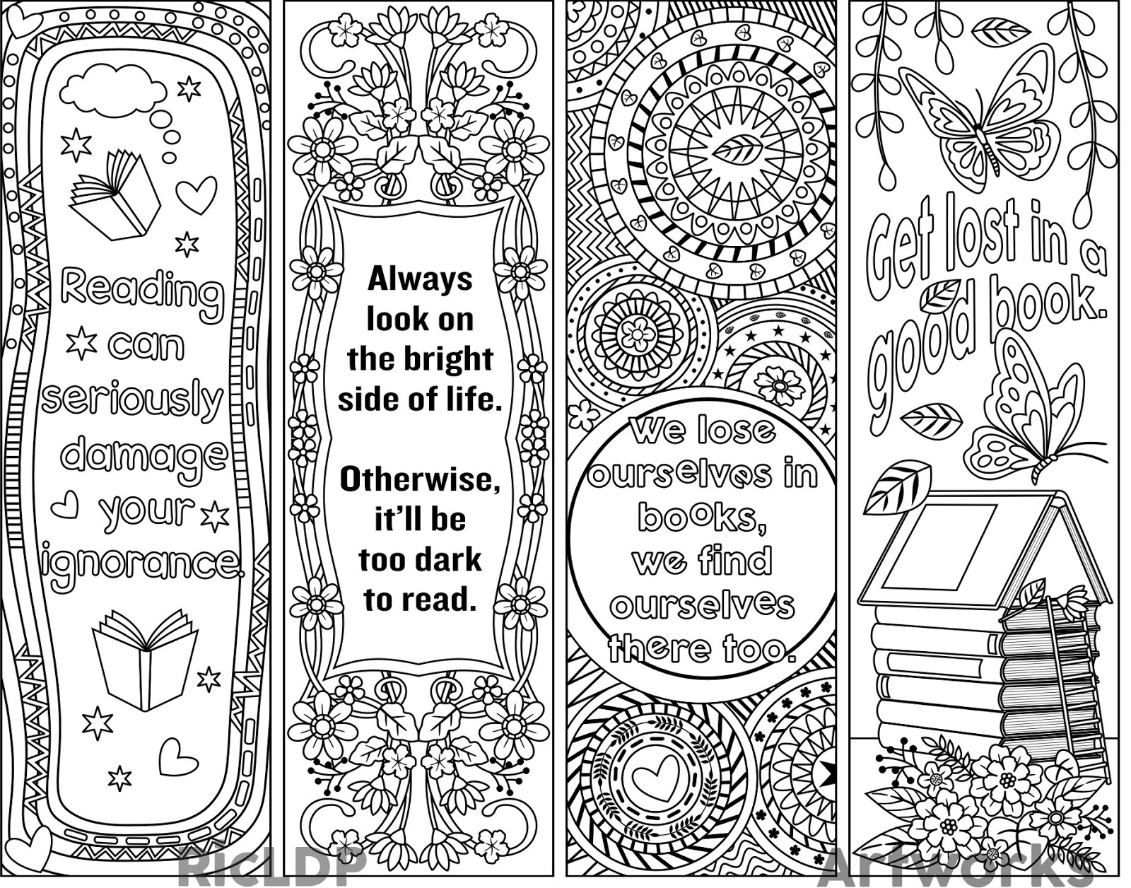 013 Free Printable Bookmark Templates Template Ideas - Free Printable Bookmarks Templates