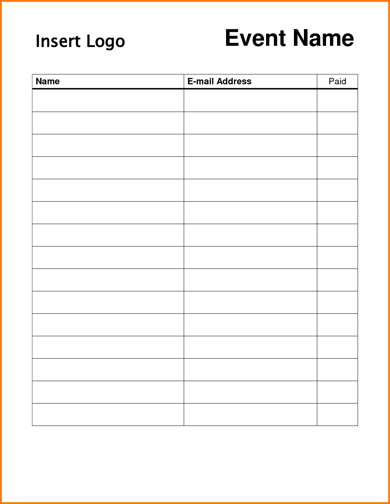 013 Sign Up Sheets Template Membership Or Register Form Sample For - Free Printable Sign Up Sheet