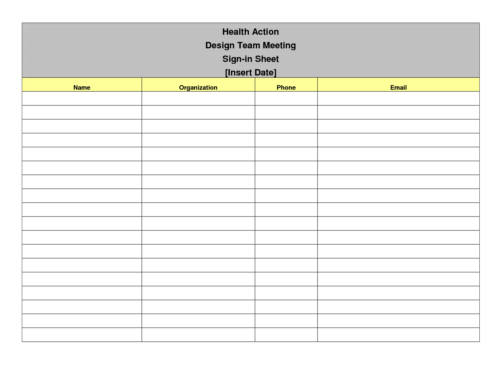 014 Sign In Sheet Templates Template Free Meeting ~ Ulyssesroom - Free Printable Sign In Sheet