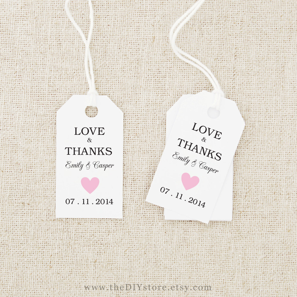 014 Wedding Favor Tag Templates Free Printable Gift Tags 44333 - Free Printable Wedding Thank You Tags