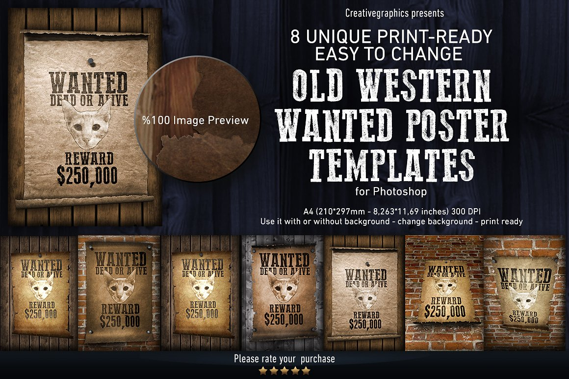 015 Old Western Wanted Poster Templates - Free Printable Wanted Poster Old West