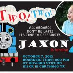 015 Thomas The Train Birthdays Template Sample Ideas ~ Ulyssesroom   Thomas Invitations Printable Free