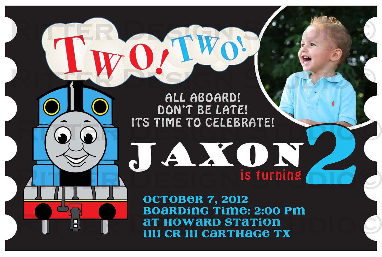 015 Thomas The Train Birthdays Template Sample Ideas ~ Ulyssesroom - Thomas Invitations Printable Free
