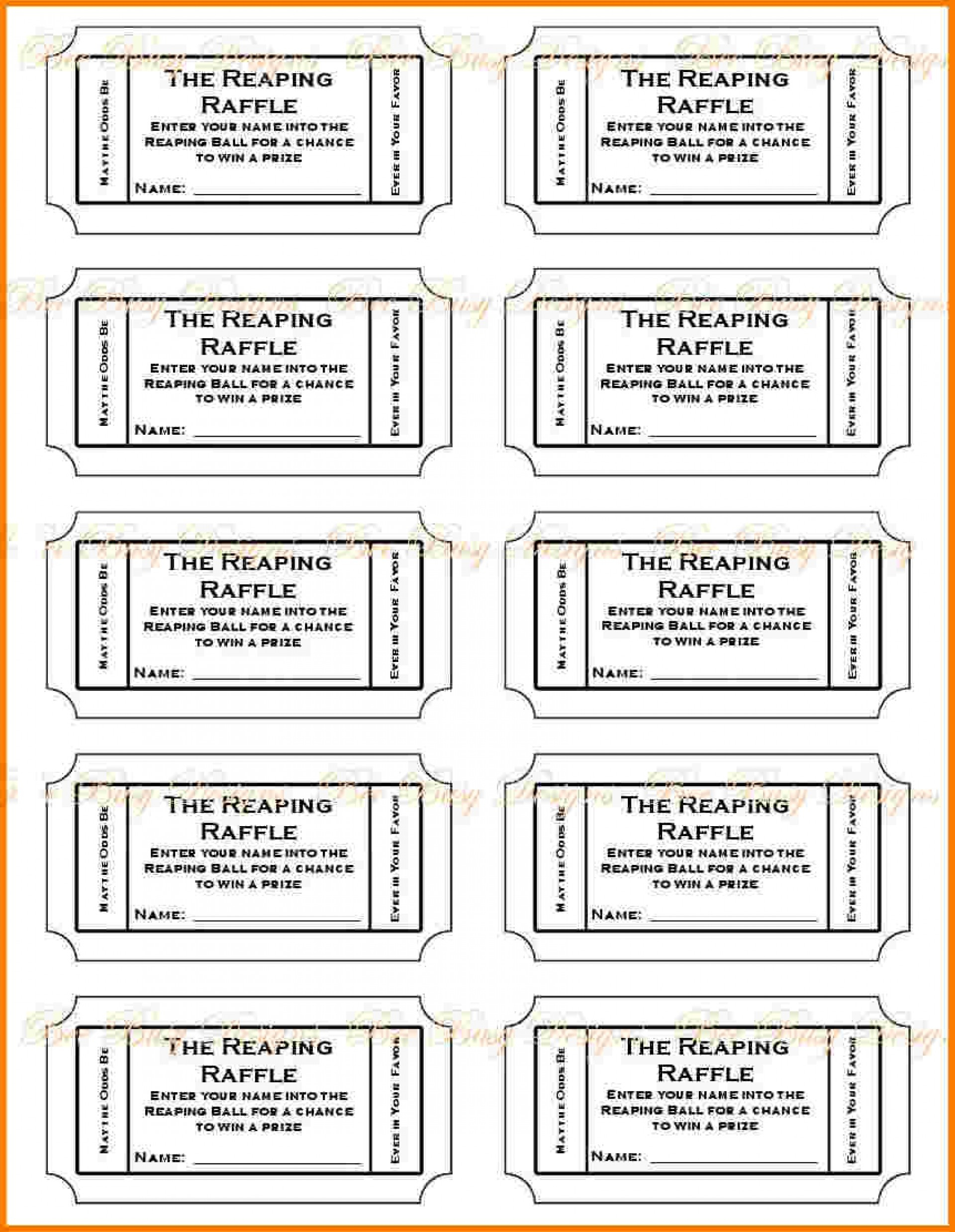 016 Free Printable Raffle Ticket Template Download Tickets ~ Ulyssesroom - Free Printable Raffle Ticket Template Download
