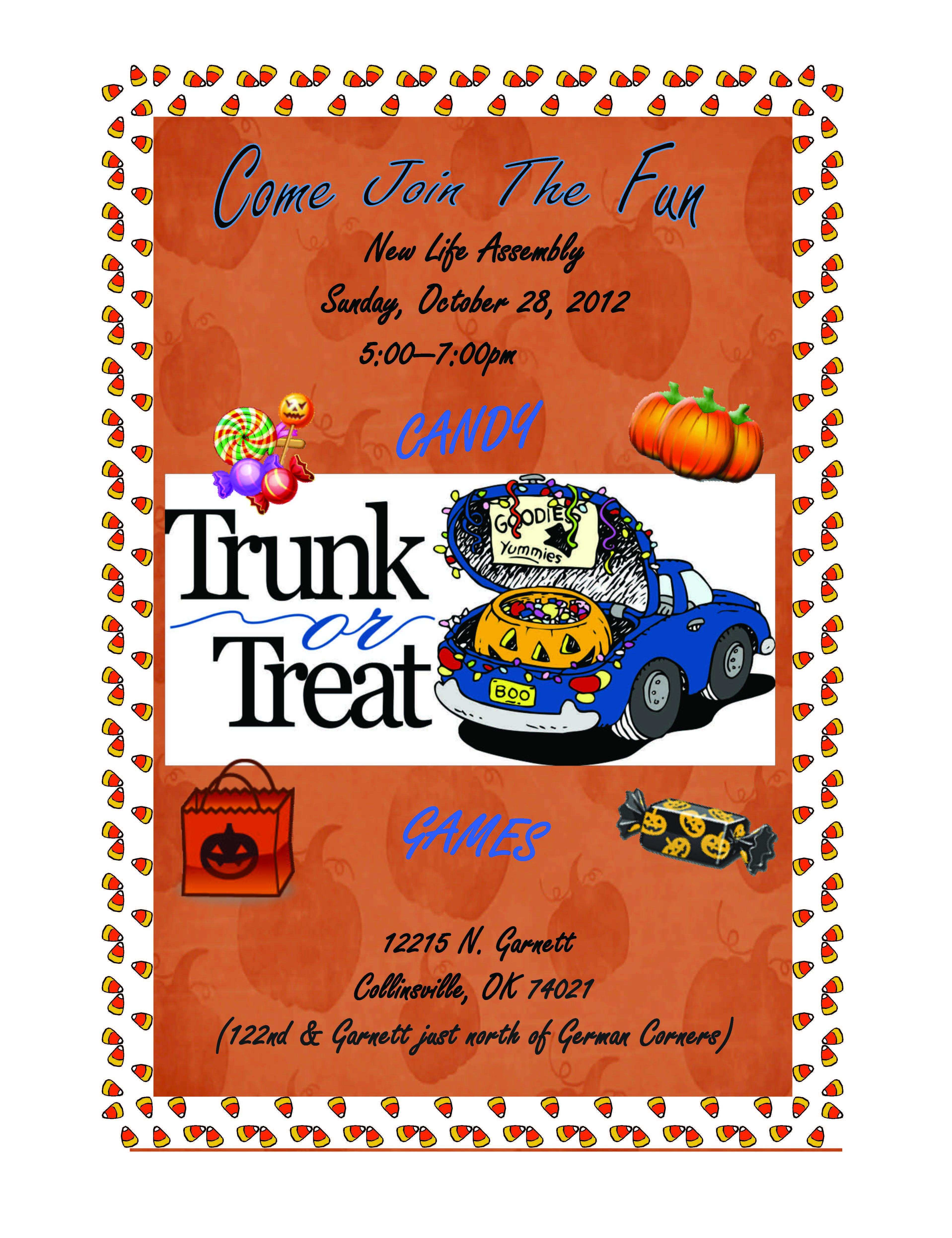 017 Fall Festival Flyer Templates Free Church Template Trunk Or - Free Printable Fall Festival Flyer Templates