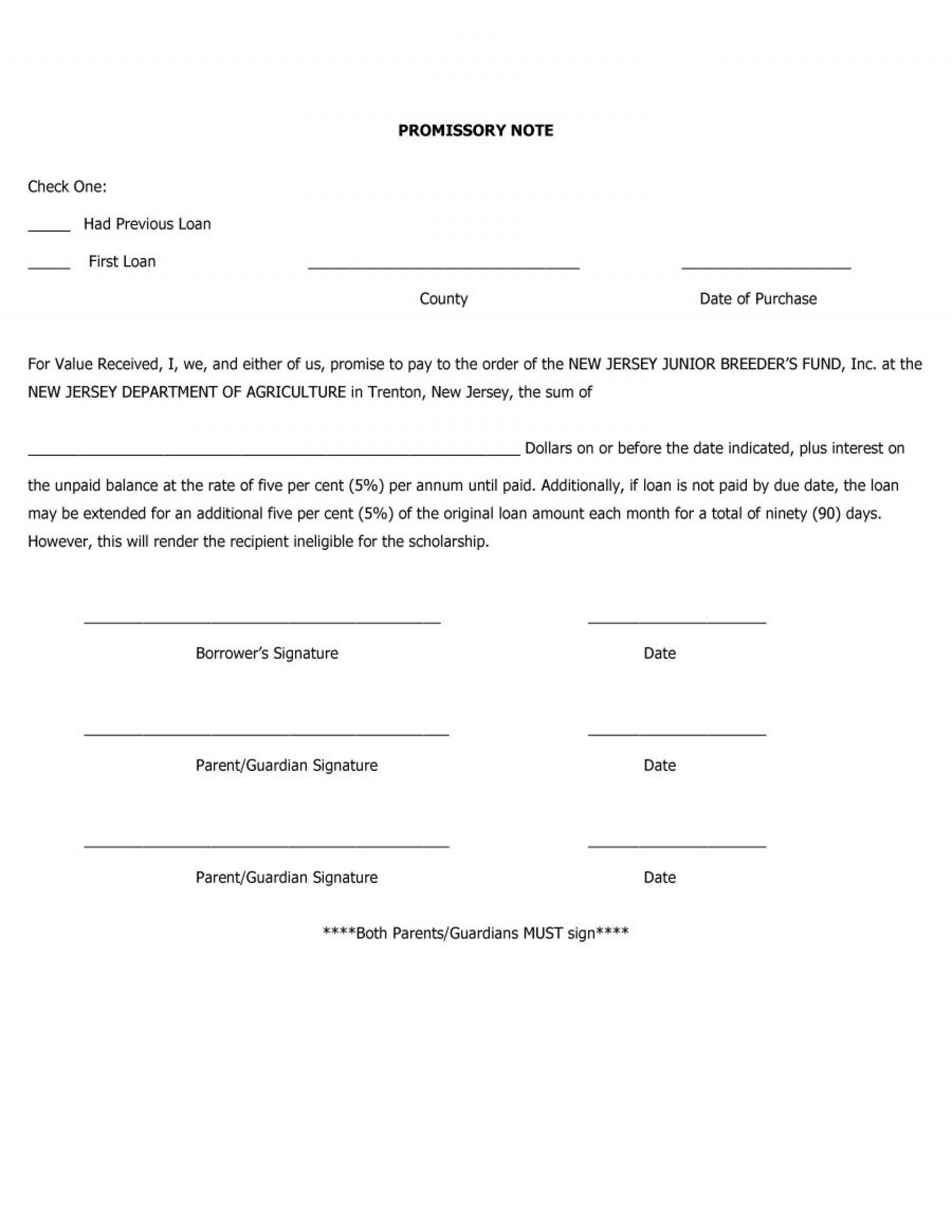 017 Template Ideas Promissory Note Templates Free ~ Ulyssesroom - Free Printable Promissory Note For Personal Loan