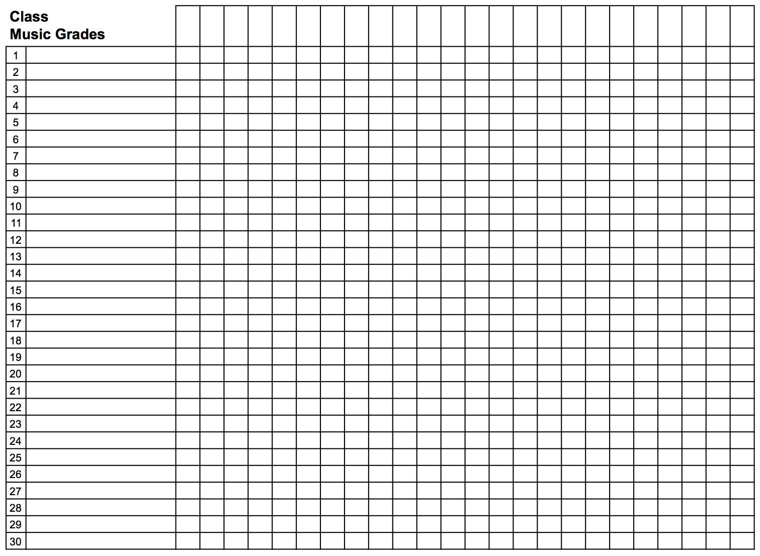 018 Template Ideas Gradebook Grid Landscape Teacher Grade Book - Free Printable Gradebook