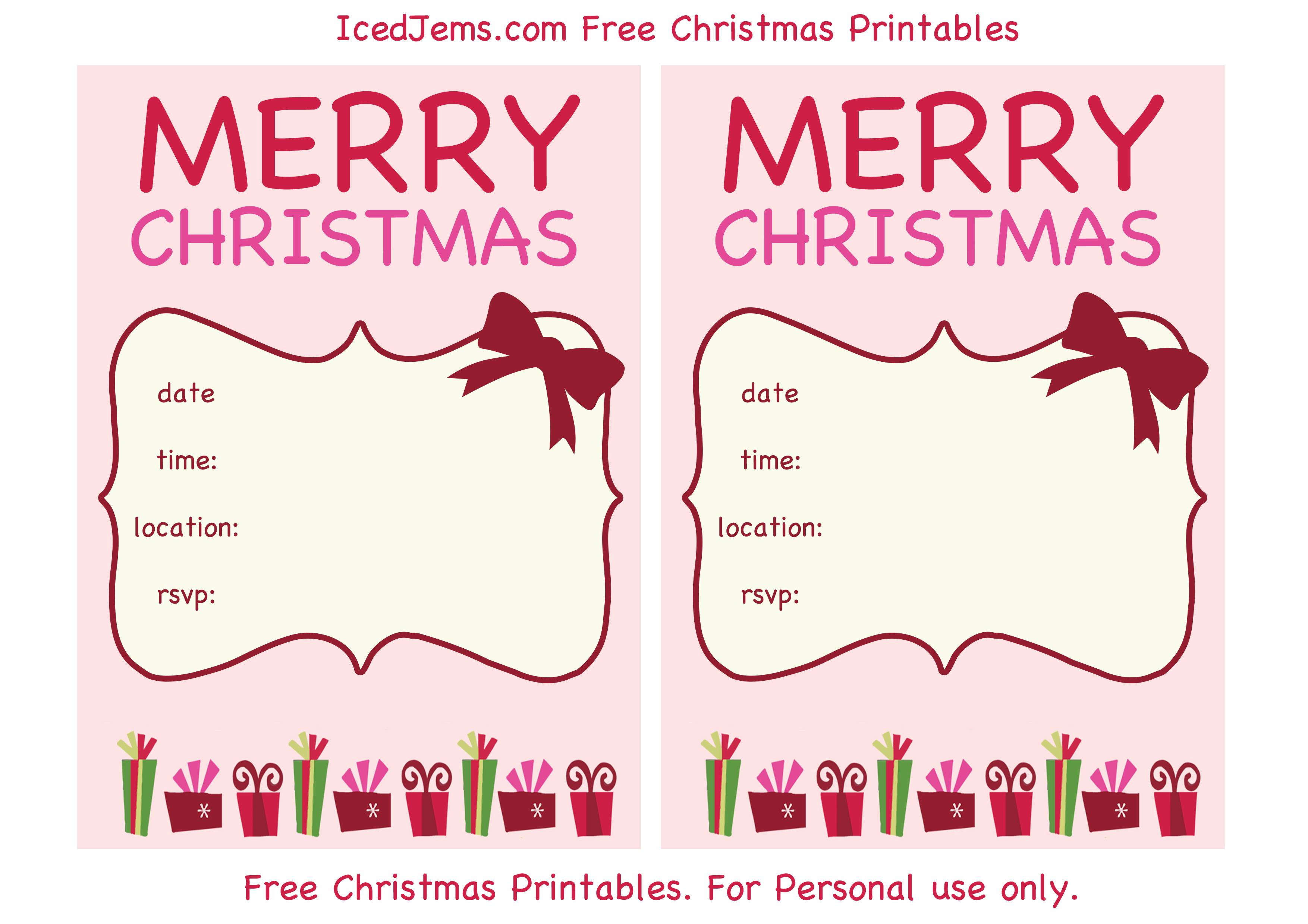 019 Christmas Party Invite Template Ideas ~ Ulyssesroom - Christmas Party Invitation Templates Free Printable