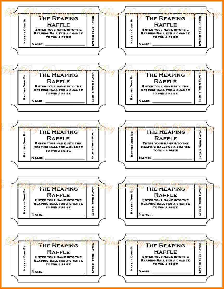 019 Free Printable Raffle Tickets P Template ~ Ulyssesroom - Free Printable Diaper Raffle Ticket Template