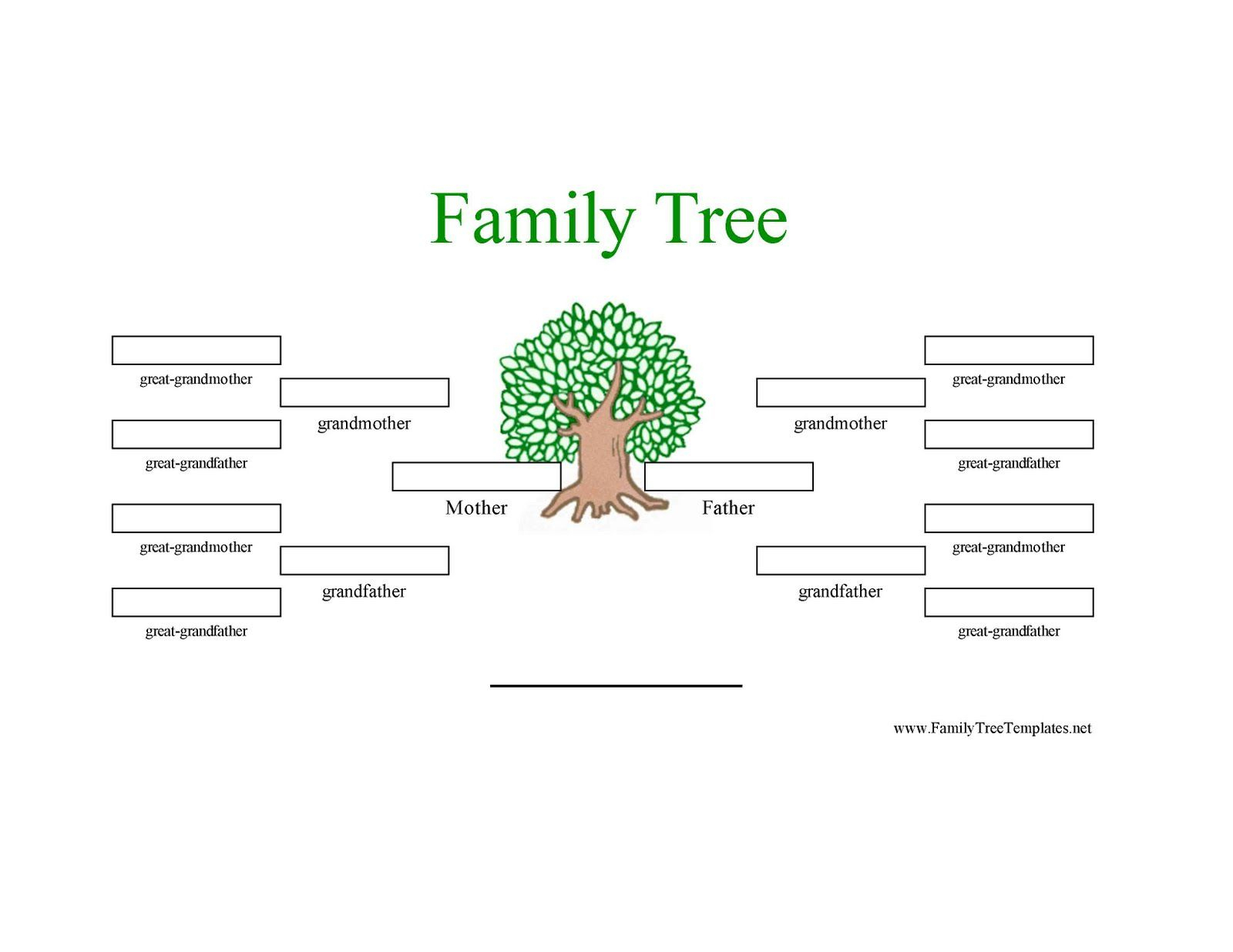019 Template Ideas Printable Family Tree ~ Ulyssesroom - Free Printable Family Tree Template 4 Generations