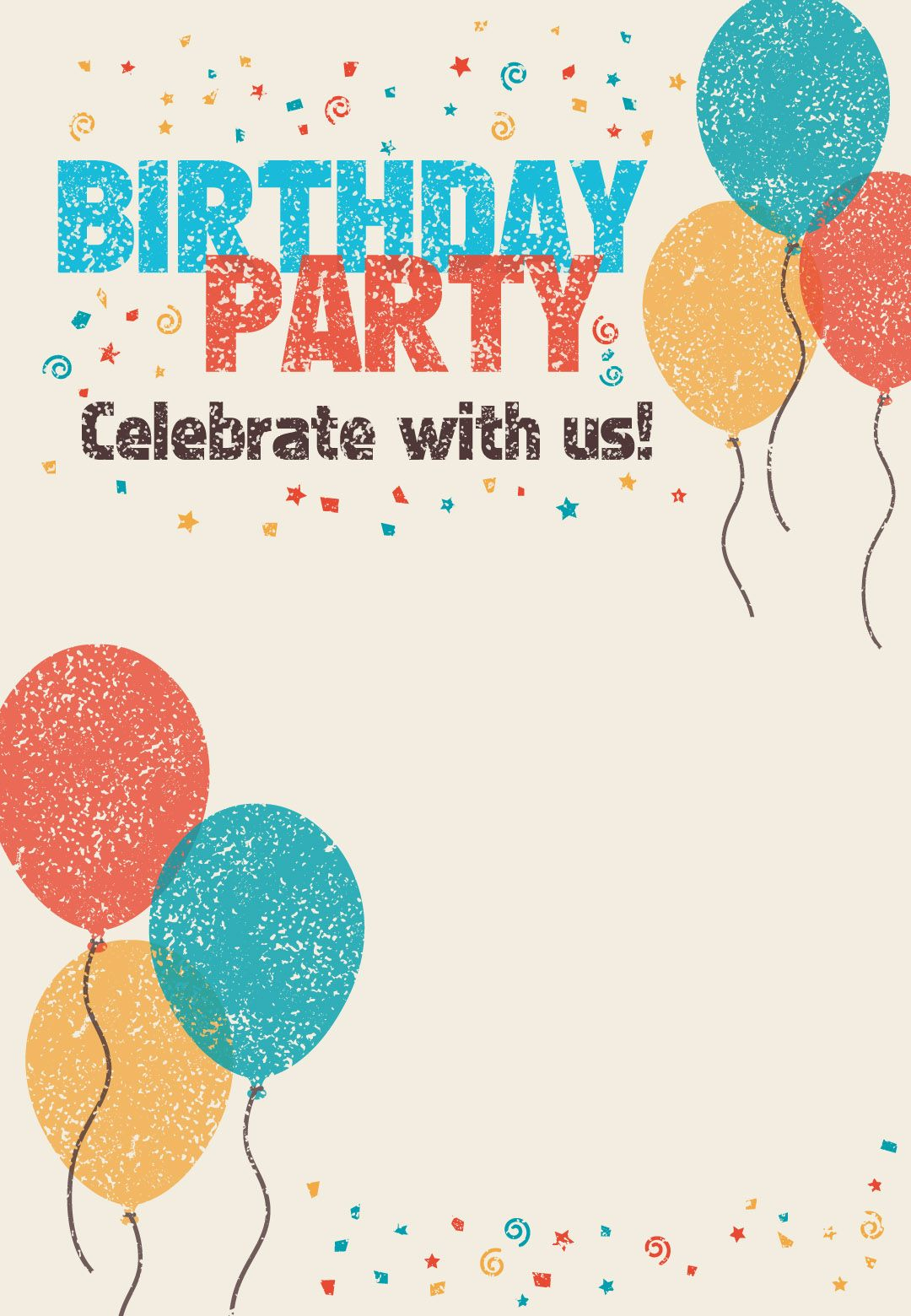 023 Template Ideas Free Birthday Flyer Templates ~ Ulyssesroom - Pool Party Flyers Free Printable
