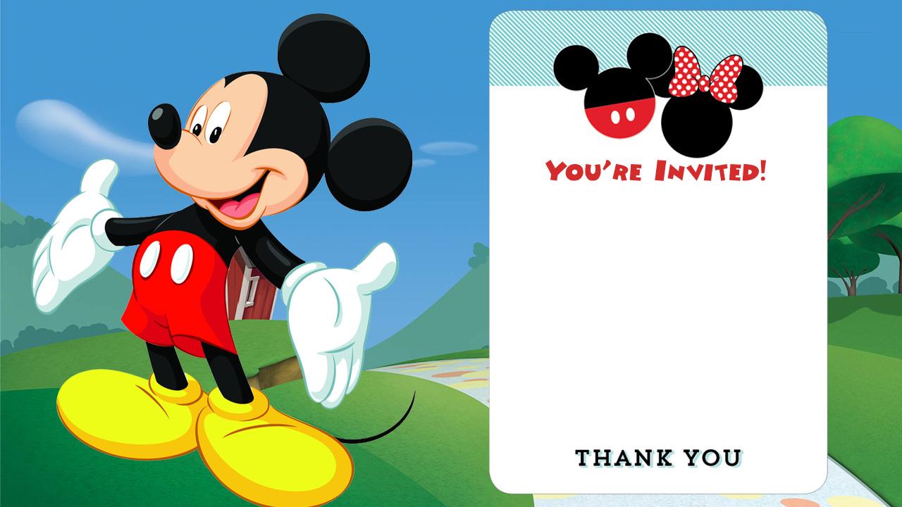 027 Mickey Mouse Birthday Invitations Template Cool Free Printable - Free Printable Mickey Mouse Birthday Invitations