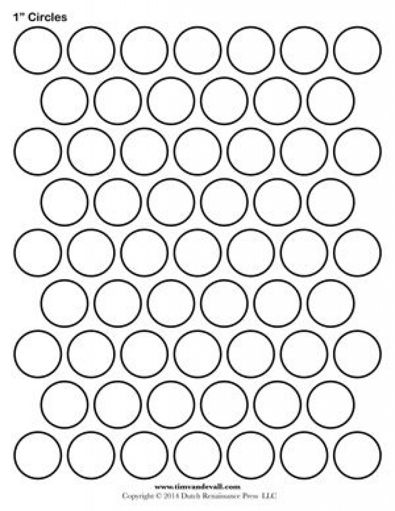 1 Inch Circle Template Printable And Many Other Sizes! | Bottle Cap - Free Printable Cabochon Templates