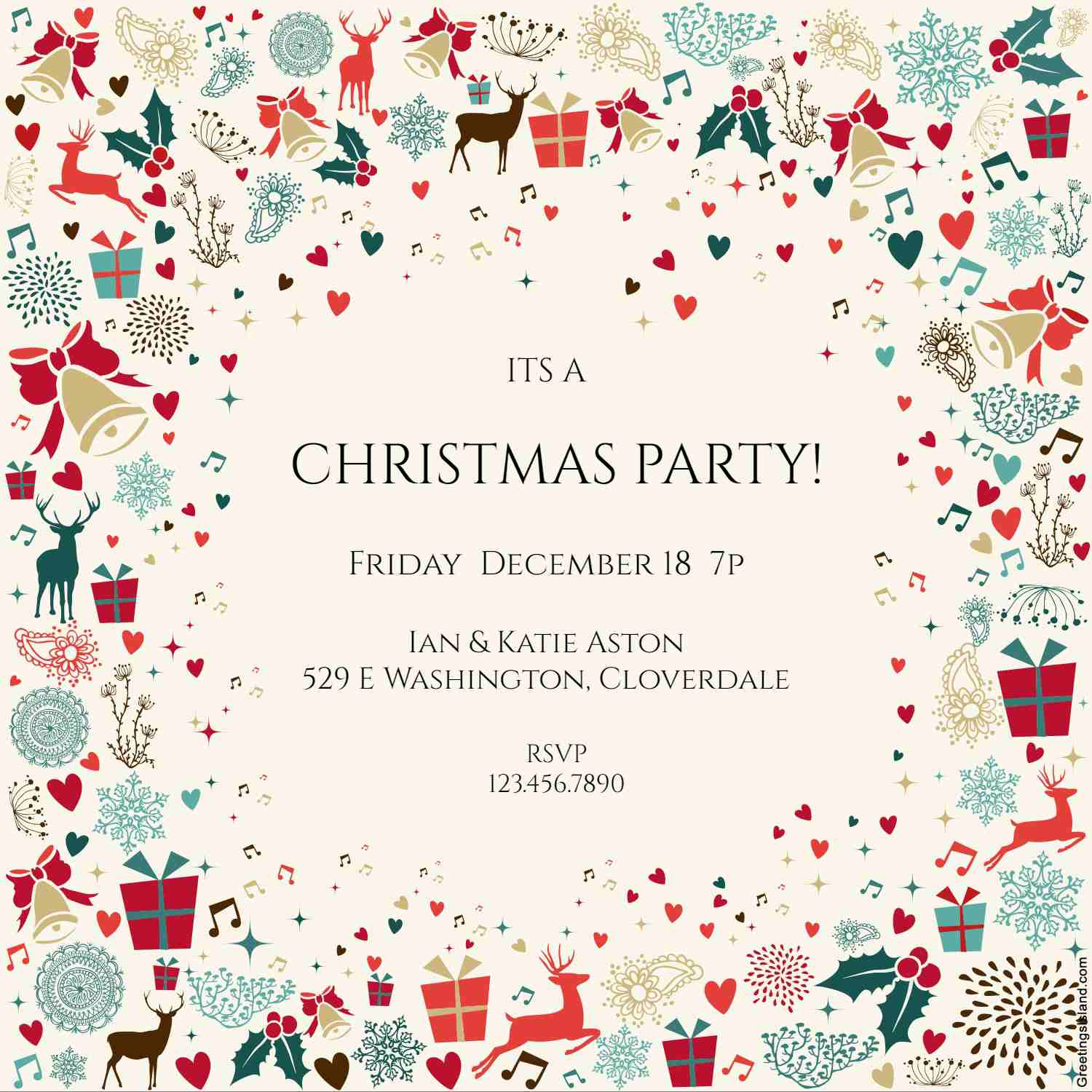 10 Free Christmas Party Invitations That You Can Print - Free Printable Christmas Party Signs