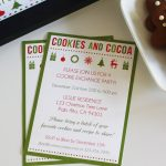 10 Free Christmas Party Invitations That You Can Print   Free Printable Cookie Decorating Invitations