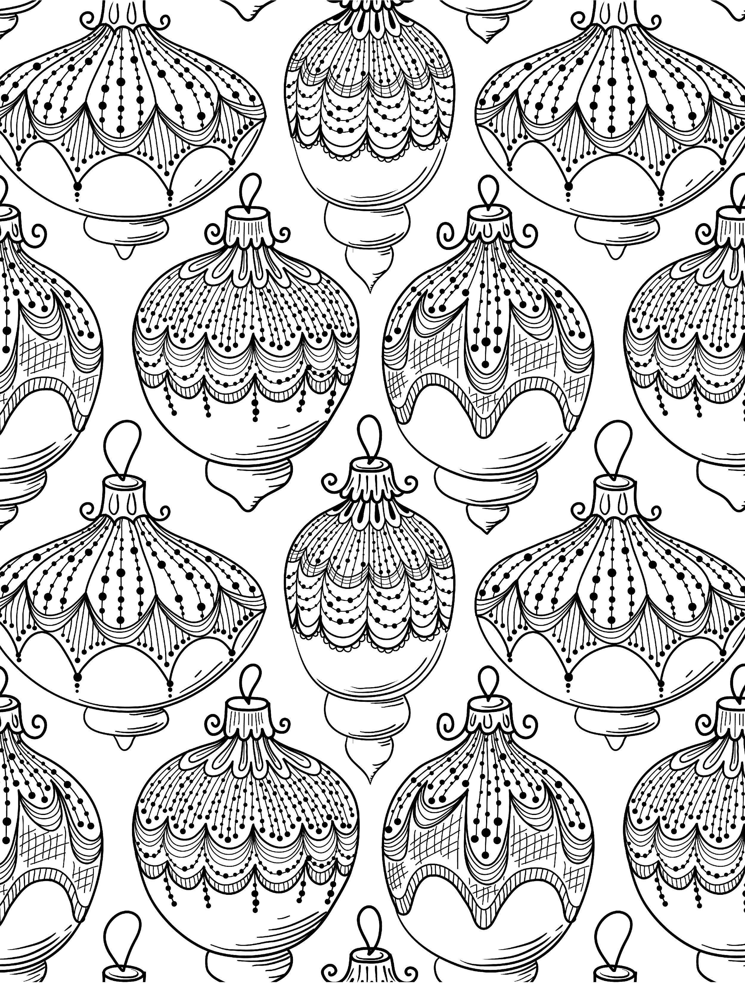 10 Free Printable Holiday Adult Coloring Pages | Adult And - Free Printable Holiday Coloring Pages