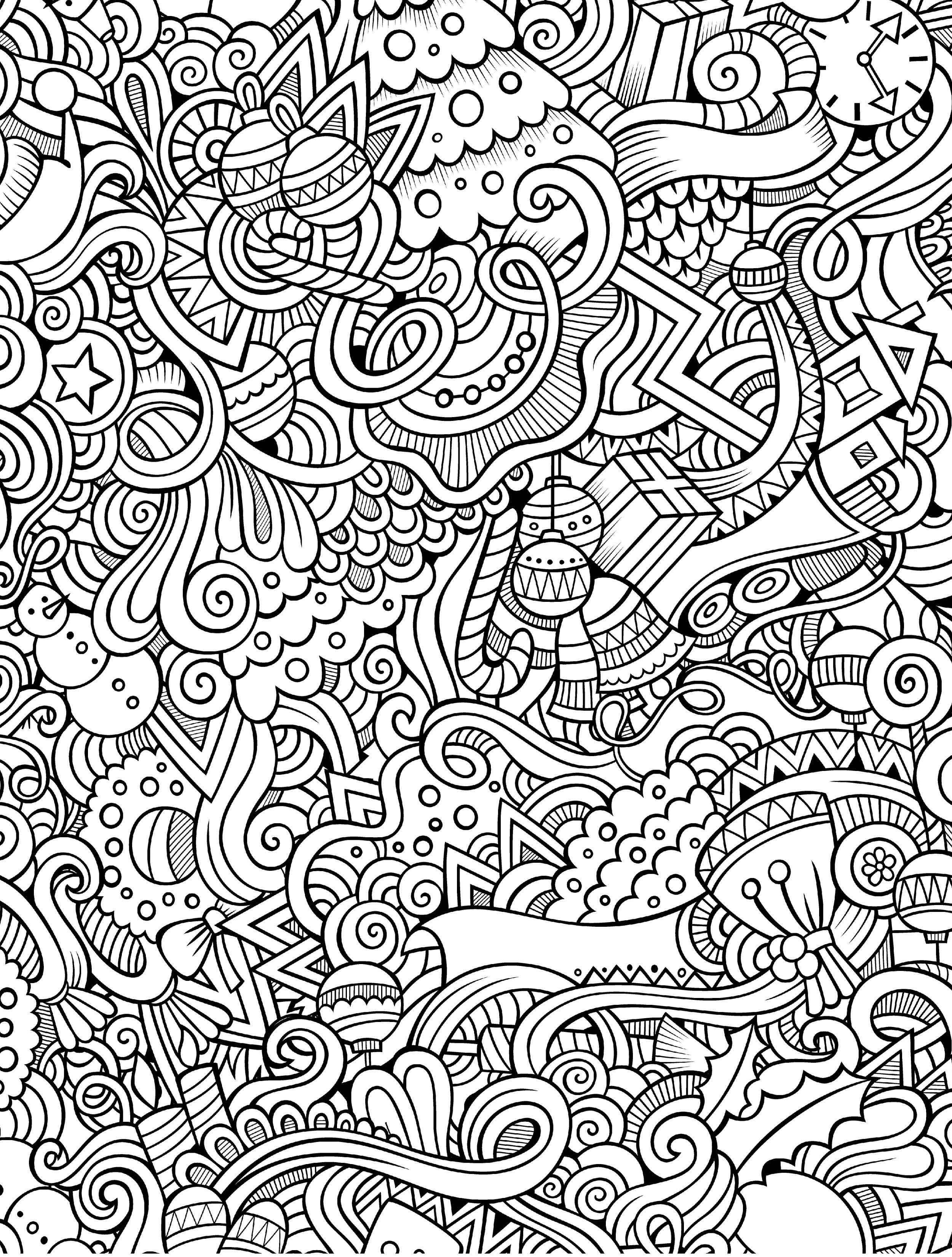 10 Free Printable Holiday Adult Coloring Pages | Coloring Pages - Free Printable Coloring Books For Adults