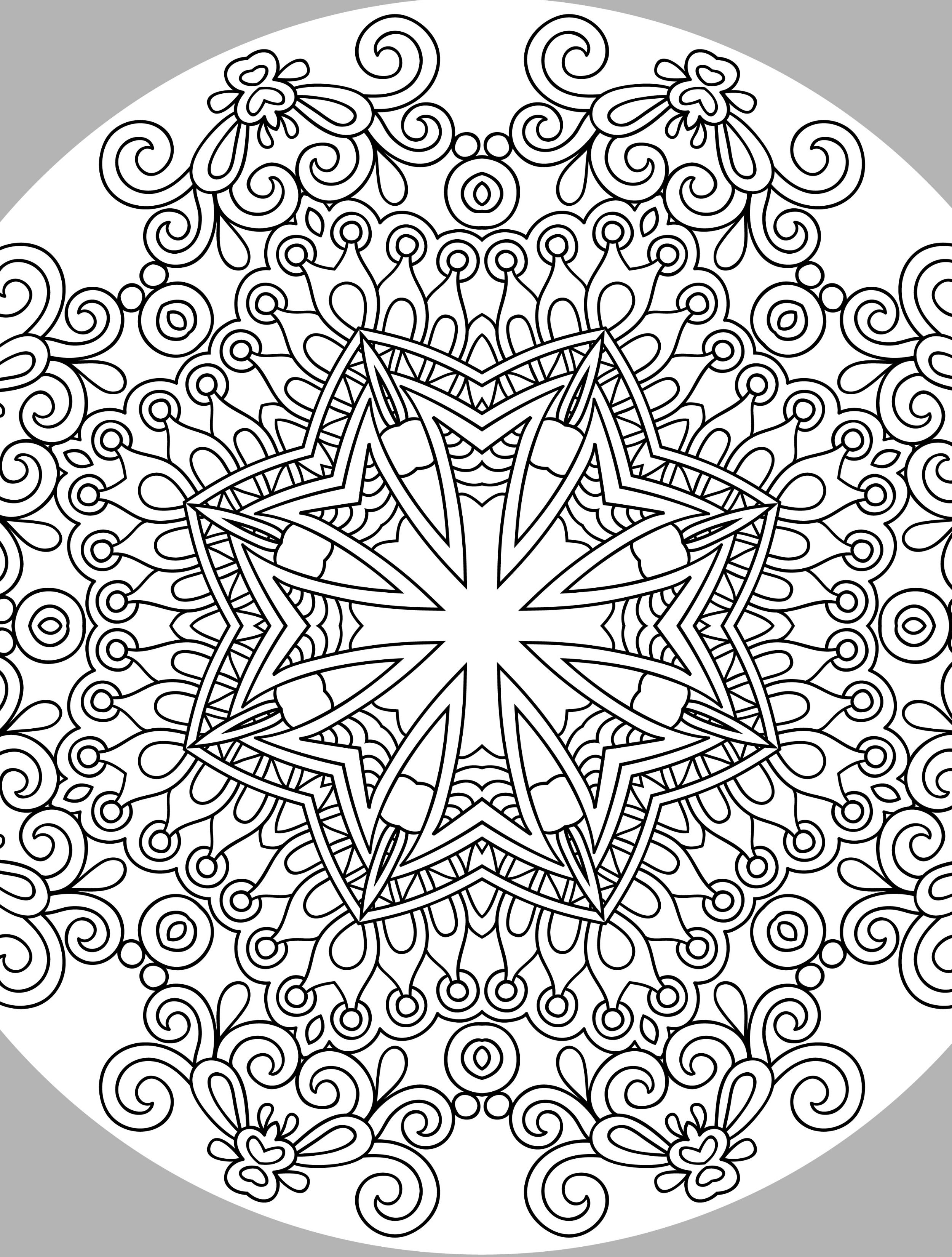 10 Free Printable Holiday Adult Coloring Pages | Printables | Adult - Free Printable Holiday Coloring Pages