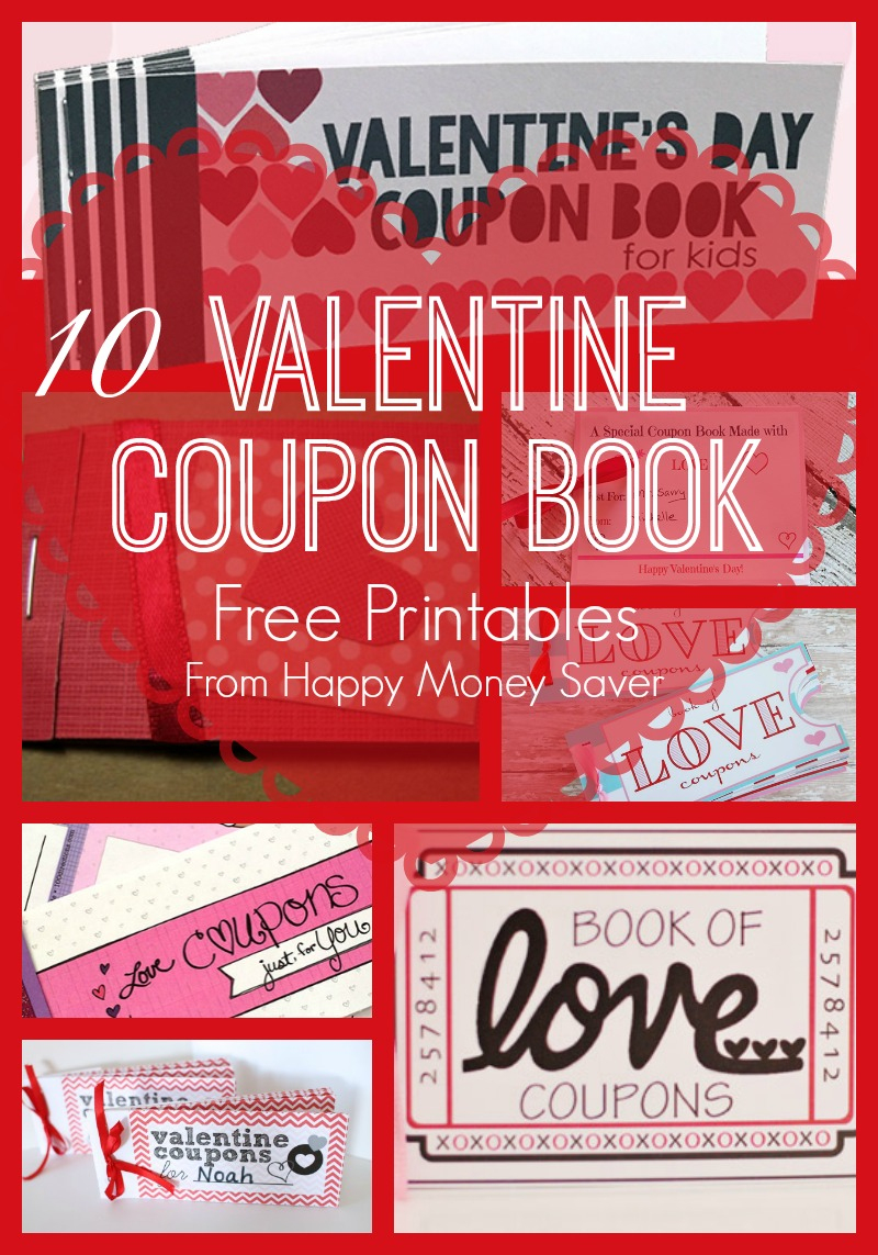 10 Valentines Day Coupon Book Free Printables! - Free Printable Homemade Coupon Book