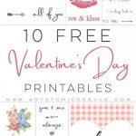 10 Valentine's Printables | Valentine Inspiration | Pinterest   Free Printable Valentine's Day Stencils