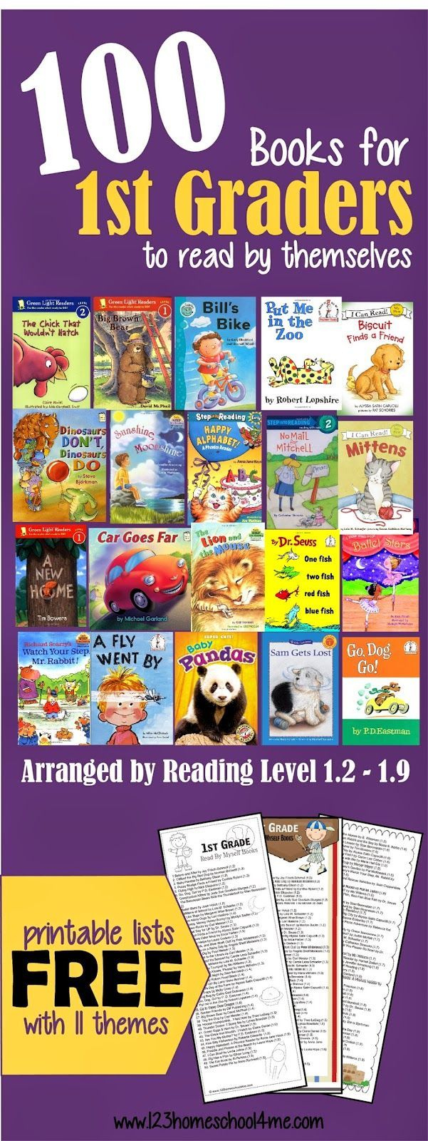 100 Books For First Graders To Read Themselves (By Reading Level - Free Printable Level H Books