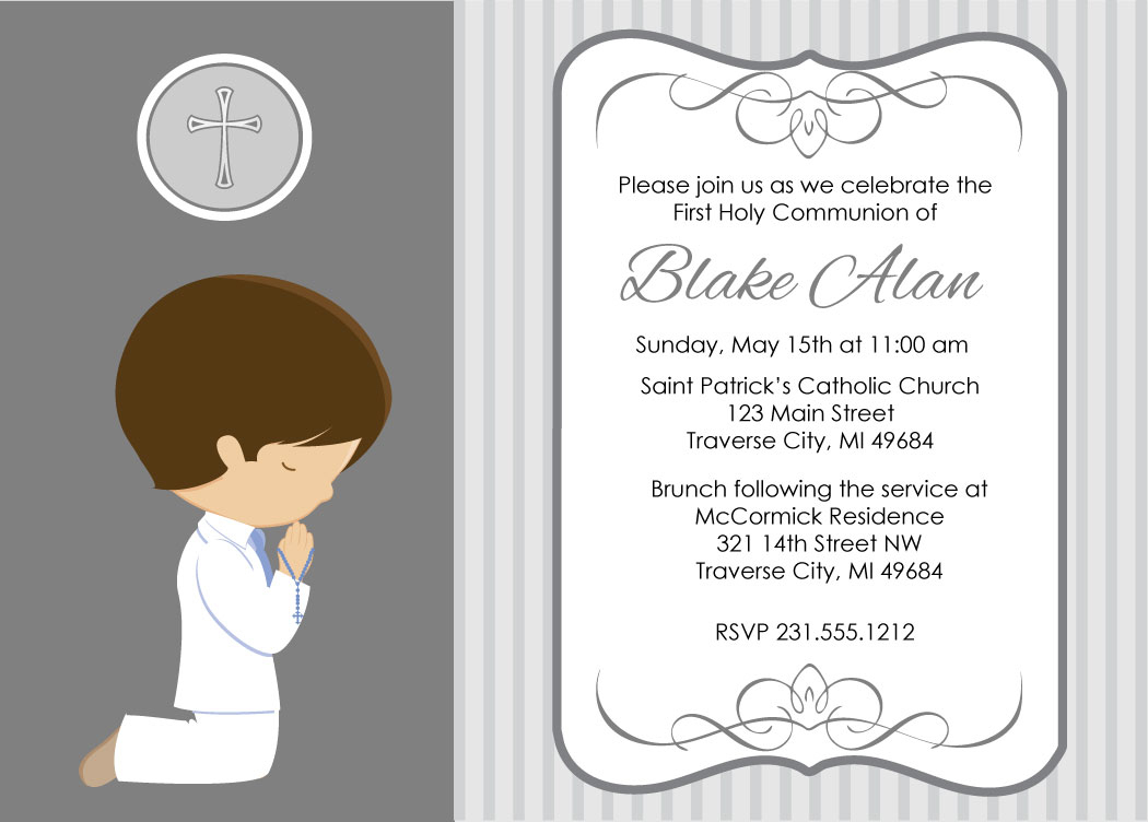 100+ First Holy Communion Invitation Templates Free Greetings Island - First Holy Communion Cards Printable Free