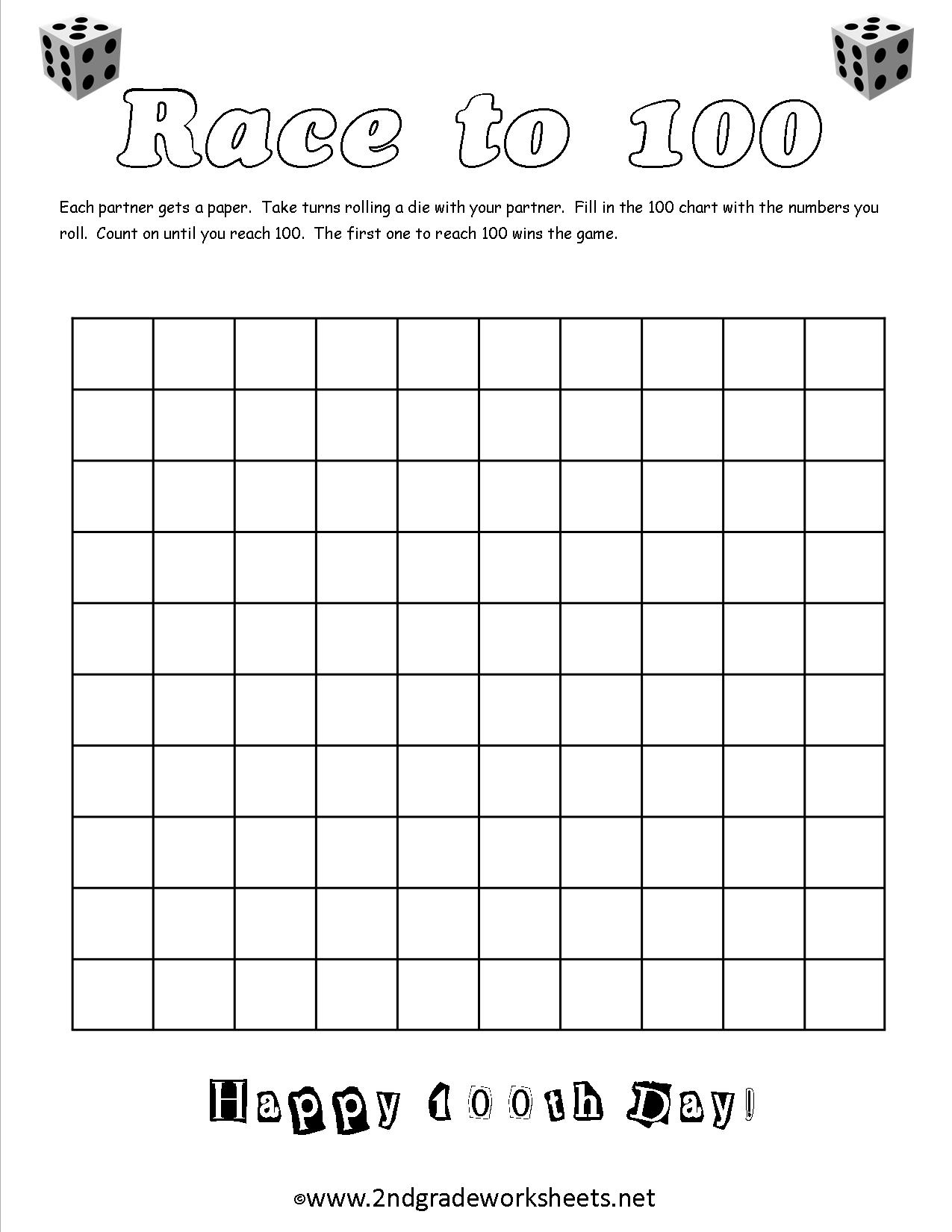 100Th Day Of School Worksheets And Printouts - Free Printable Number Of The Day Worksheets