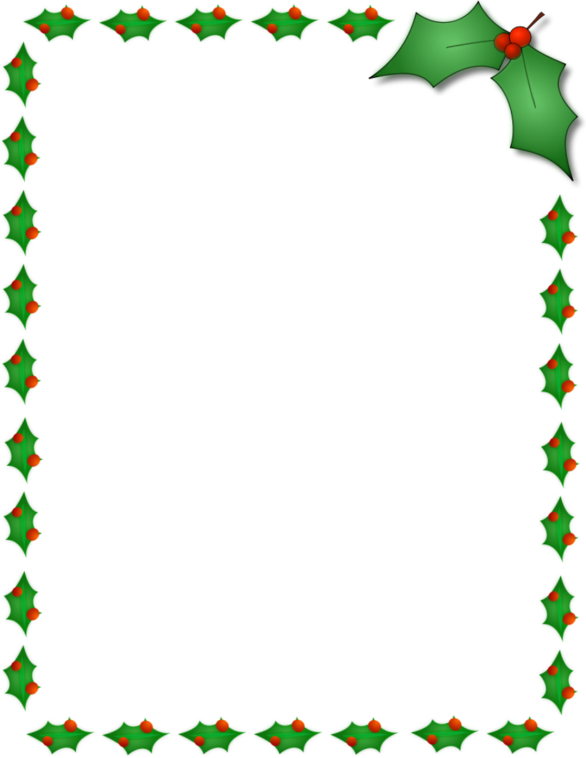 11 Free Christmas Border Designs Images - Holiday Clip Art Borders - Free Printable Christmas Border Paper