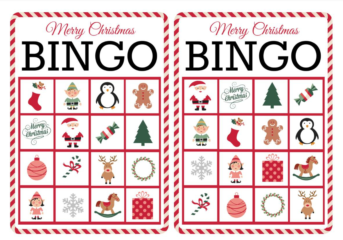 11 Free, Printable Christmas Bingo Games For The Family - Free Printable Bingo Cards For Large Groups