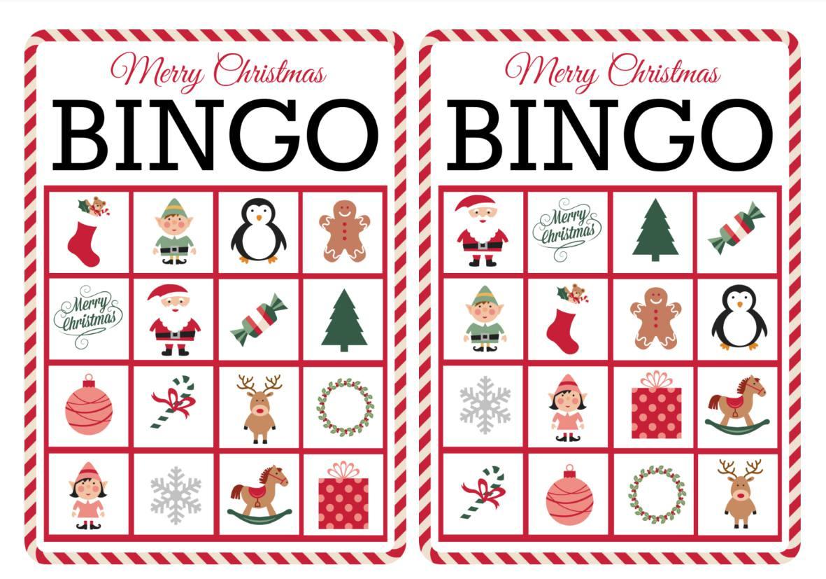 11 Free, Printable Christmas Bingo Games For The Family - Free Printable Christmas Pictures