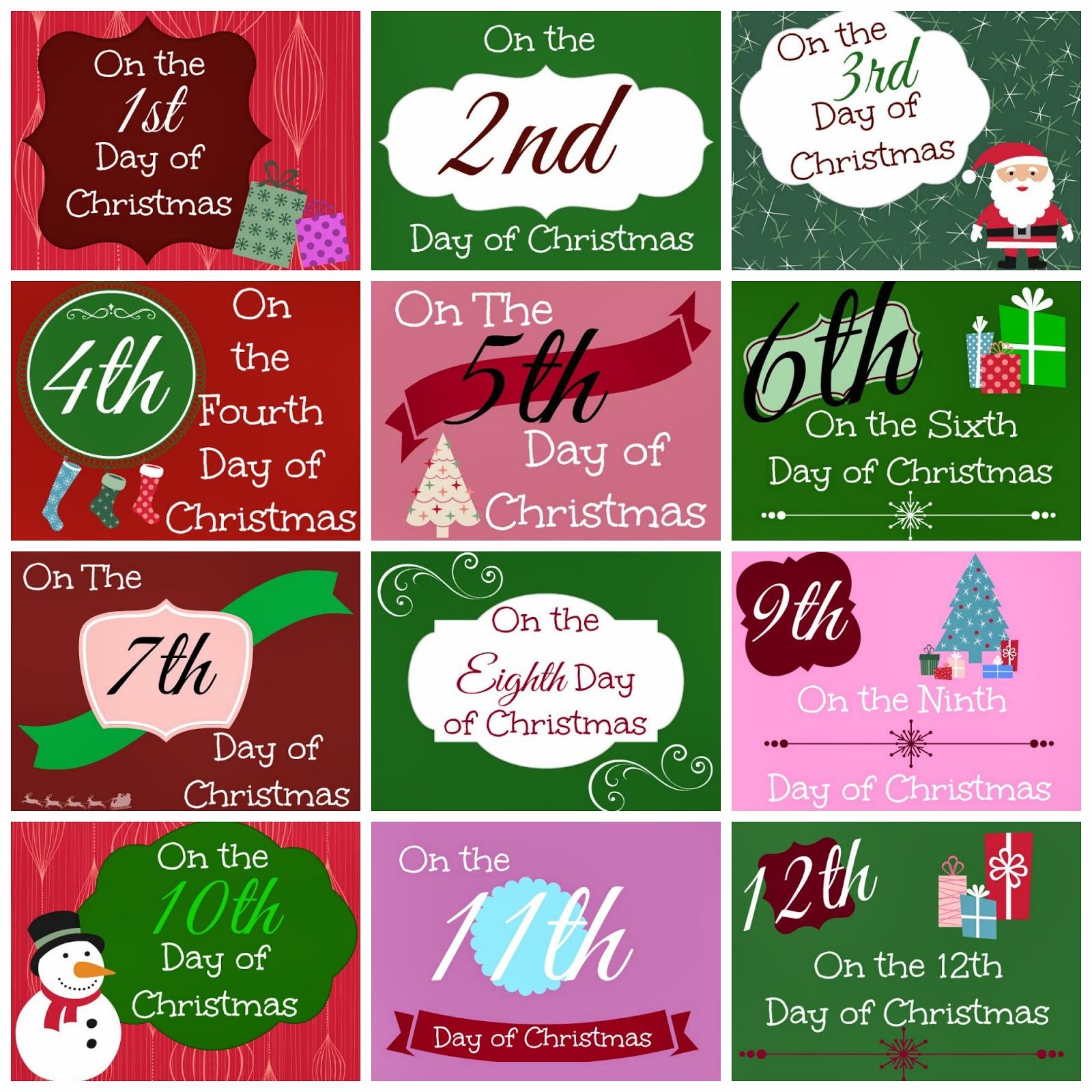 12 Days Of Christmas Printable Tags - Busy Moms Helper - Free Printable 12 Days Of Christmas Gift Tags